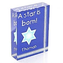 """A Star is Born"" Crystal - Personalised New Baby Glass Gift or Keepsake"